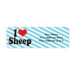 Amo ovejas etiquetas de remite