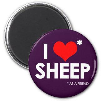 Amo * ovejas imán redondo 5 cm