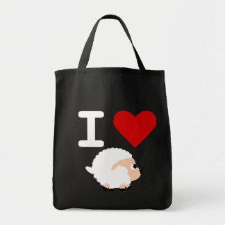 amo ovejas negras bolsa tela para la compra