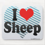 Amo ovejas tapetes de ratón