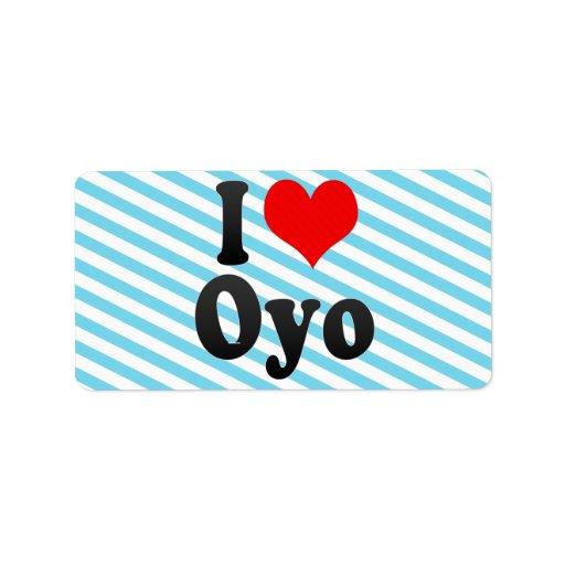 Amo Oyo, Nigeria Etiquetas De Dirección