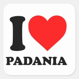 Amo Padania Pegatina Cuadradas Personalizada