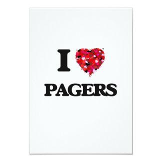 """Amo paginadores invitación 3.5"""" x 5"""""""