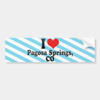 Amo Pagosa Springs,+CO Pegatina Para Auto