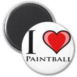 Amo Paintball Imán De Frigorífico