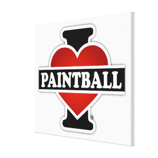 Amo Paintball Impresión De Lienzo