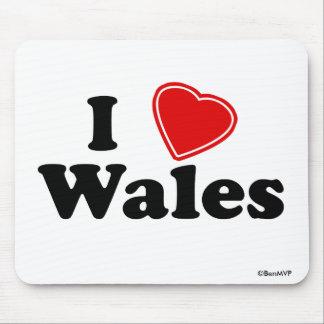 Amo País de Gales Alfombrillas De Ratón