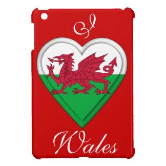 Amo País de Gales - bandera del corazón iPad Mini Protector