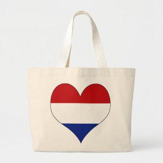 Amo Países Bajos Bolsa Tela Grande