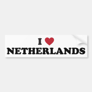 Amo Países Bajos Etiqueta De Parachoque