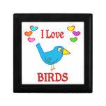 Amo pájaros caja de regalo