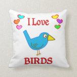 Amo pájaros cojines