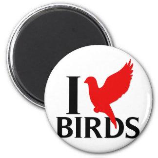 Amo pájaros iman para frigorífico