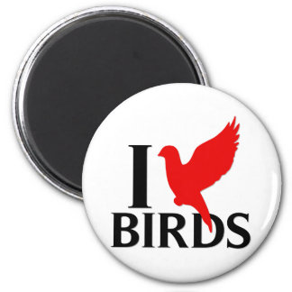 Amo pájaros iman de nevera