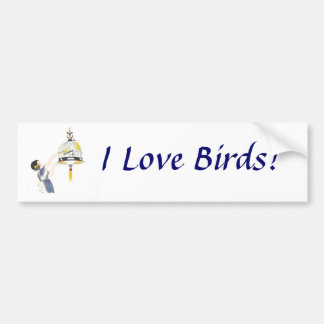 ¡Amo pájaros! Pegatina para el parachoques Pegatina Para Auto