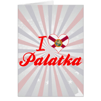 Amo Palatka, la Florida Tarjetón