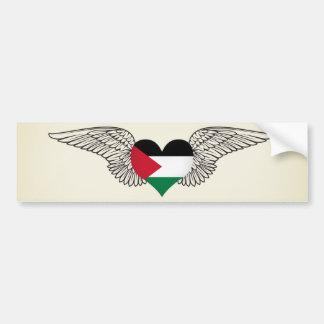 Amo Palestina - alas Pegatina De Parachoque