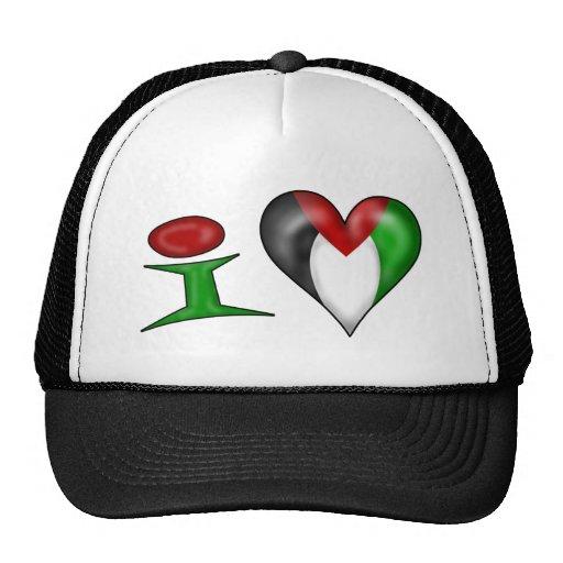 Amo Palestina Gorros Bordados