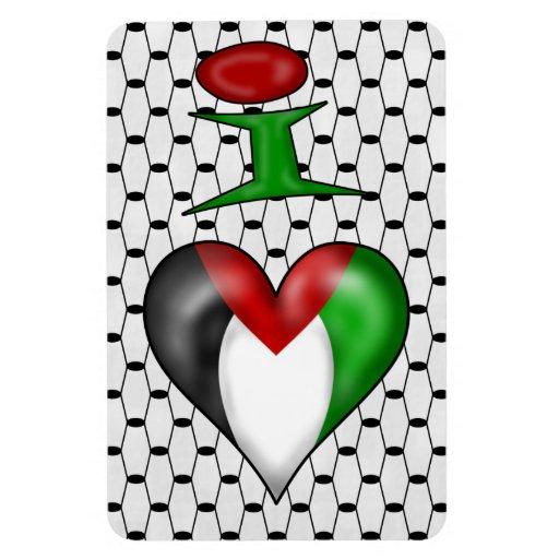 Amo Palestina Imán Rectangular