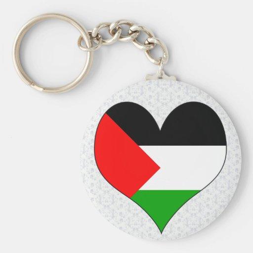 Amo Palestina Llavero Redondo Tipo Pin
