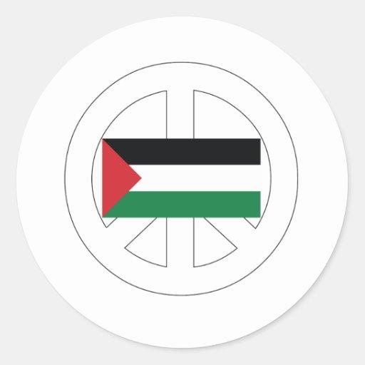 Amo Palestina Pegatina Redonda