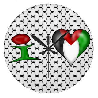 Amo Palestina Reloj Redondo Grande