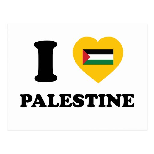Amo Palestina Tarjeta Postal
