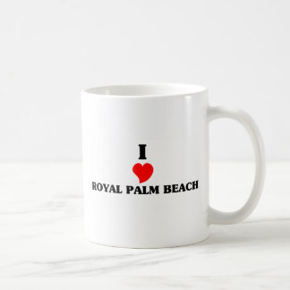 Amo Palm Beach real Taza Básica Blanca