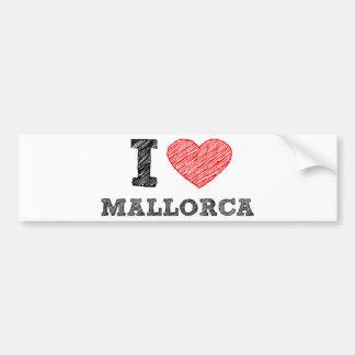 Amo Palma de Mallorca Etiqueta De Parachoque
