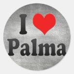 Amo Palma, España Pegatina Redonda
