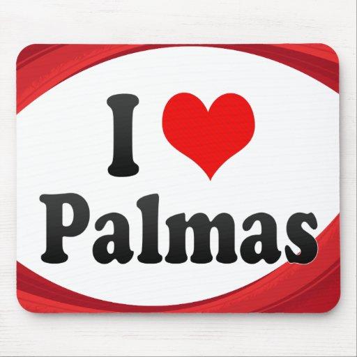 Amo Palmas, el Brasil. Eu Amo O Palmas, el Brasil Alfombrilla De Ratones