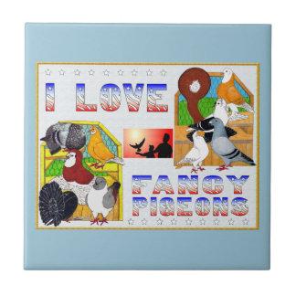 ¡Amo palomas de lujo! Tejas Ceramicas
