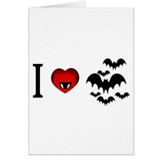 Amo palos de vampiro felicitación