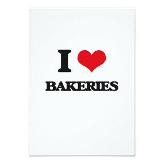Amo panaderías invitación 12,7 x 17,8 cm