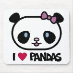 Amo pandas alfombrillas de ratones