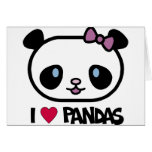 Amo pandas felicitación