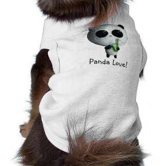 Amo pandas lindas camisetas mascota