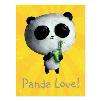 Amo pandas lindas postal