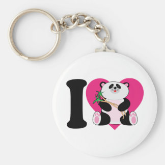 Amo pandas llaveros