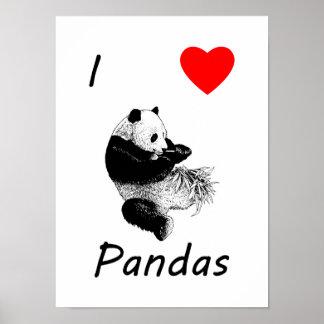Amo pandas impresiones