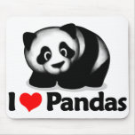 Amo pandas tapete de ratones