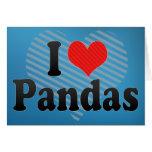 Amo pandas tarjeta