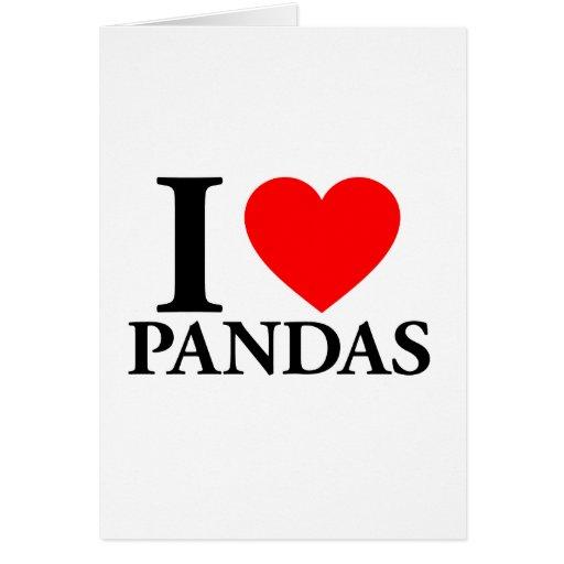 Amo pandas tarjetas