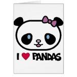 Amo pandas tarjeton