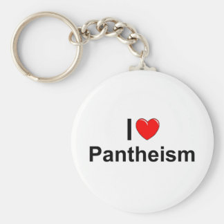 Amo panteísmo (del corazón) llavero redondo tipo pin