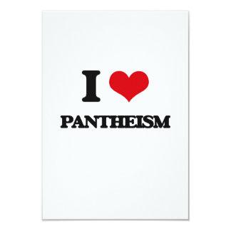 Amo panteísmo invitación 8,9 x 12,7 cm