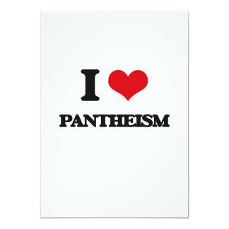 Amo panteísmo invitación 12,7 x 17,8 cm