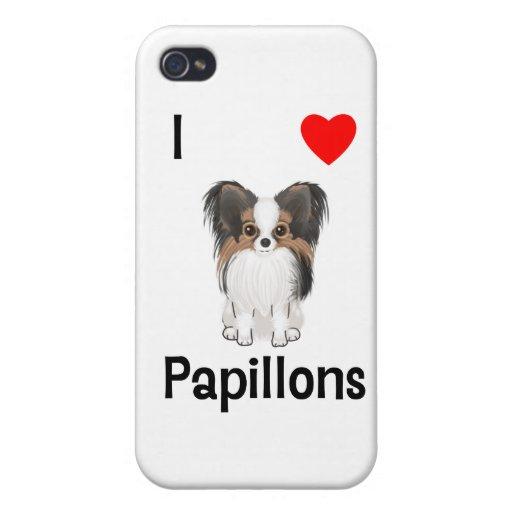 Amo Papillons (la imagen) iPhone 4 Protectores