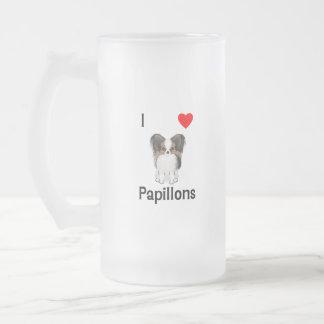 Amo Papillons (la imagen) Taza De Cristal