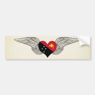 Amo Papúa Nueva Guinea - alas Pegatina Para Auto
